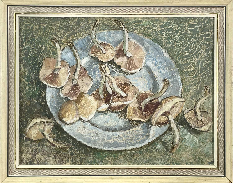 Garlick BARNES (1891-1987)Still Life - Mushrooms Oil on boardSigned 30 x 39cm Garlick Barnes 1891- - Image 2 of 3