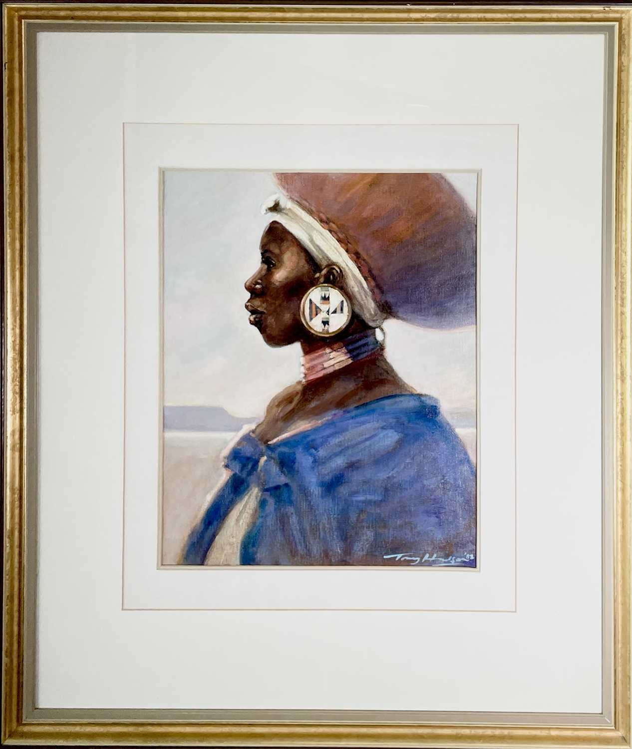 Anthony J. HUDSON (1937-1989)Zulu Woman Oil on board Signed and dated '8855 x 44cmCondition - Image 2 of 3