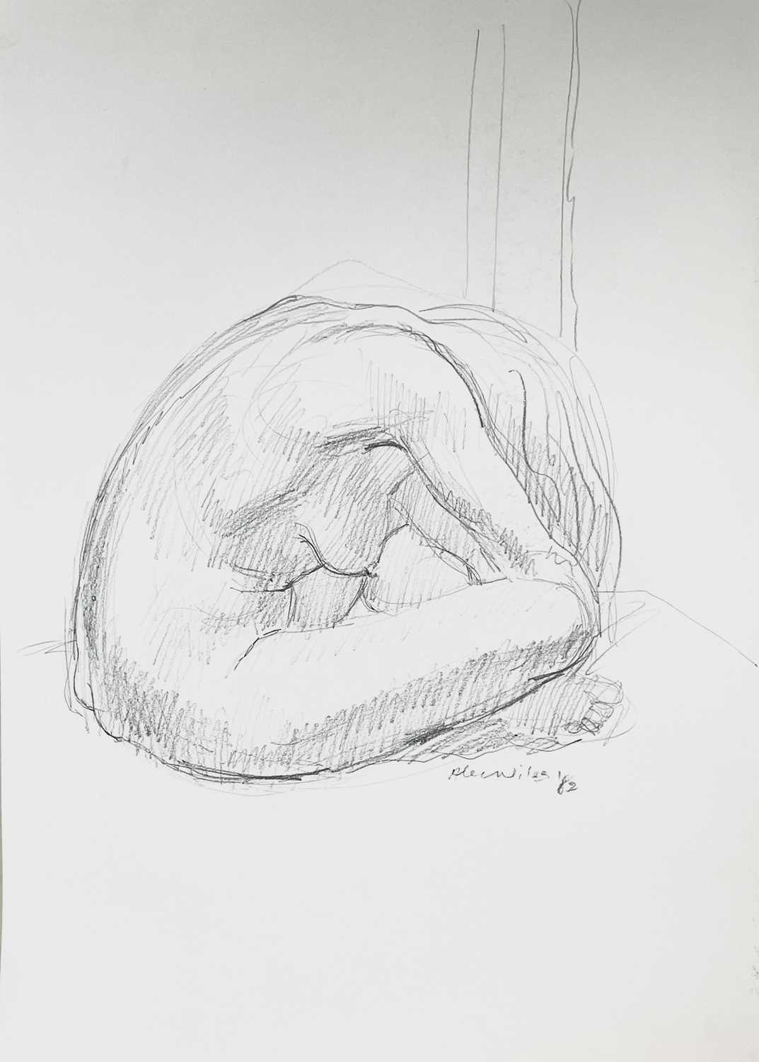 Alec WILES (1924) Nude drawings A collection of thirteen Mostly signed Mostly 60x42 Together with - Image 9 of 46
