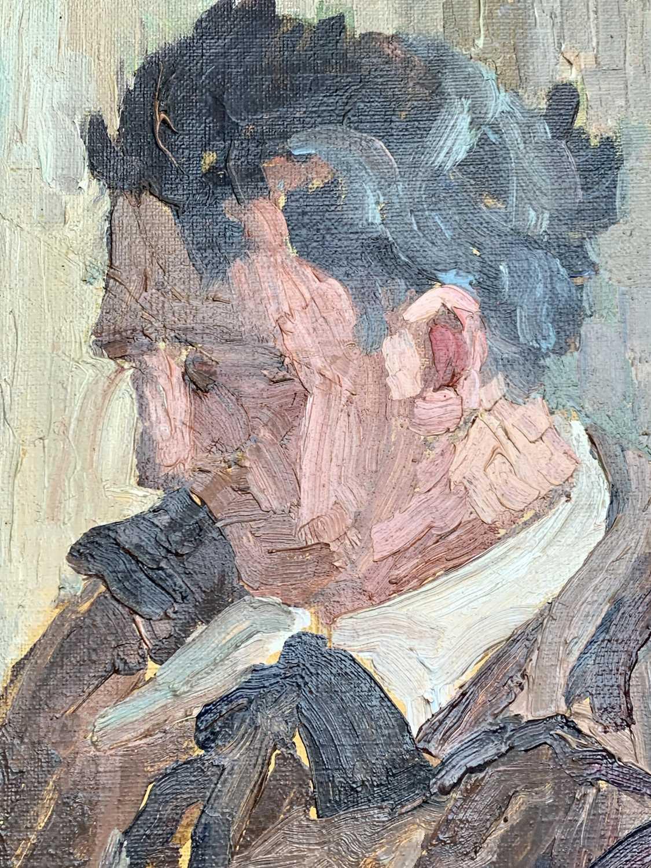 Garlick BARNES (1891-1987)Man Reading Oil on canvas Signed 61 x 51cm Garlick Barnes 1891-1987 - Image 4 of 6