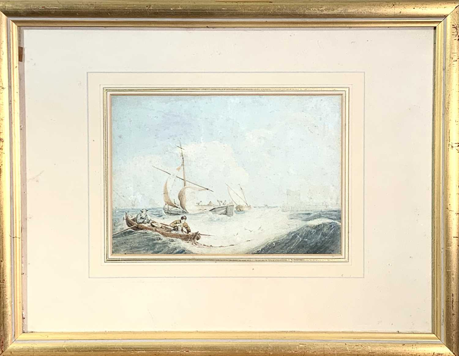 Attributed to Samuel Owen Marine Watercolour Together with a watercolour of a lighthouse by George H - Image 5 of 6