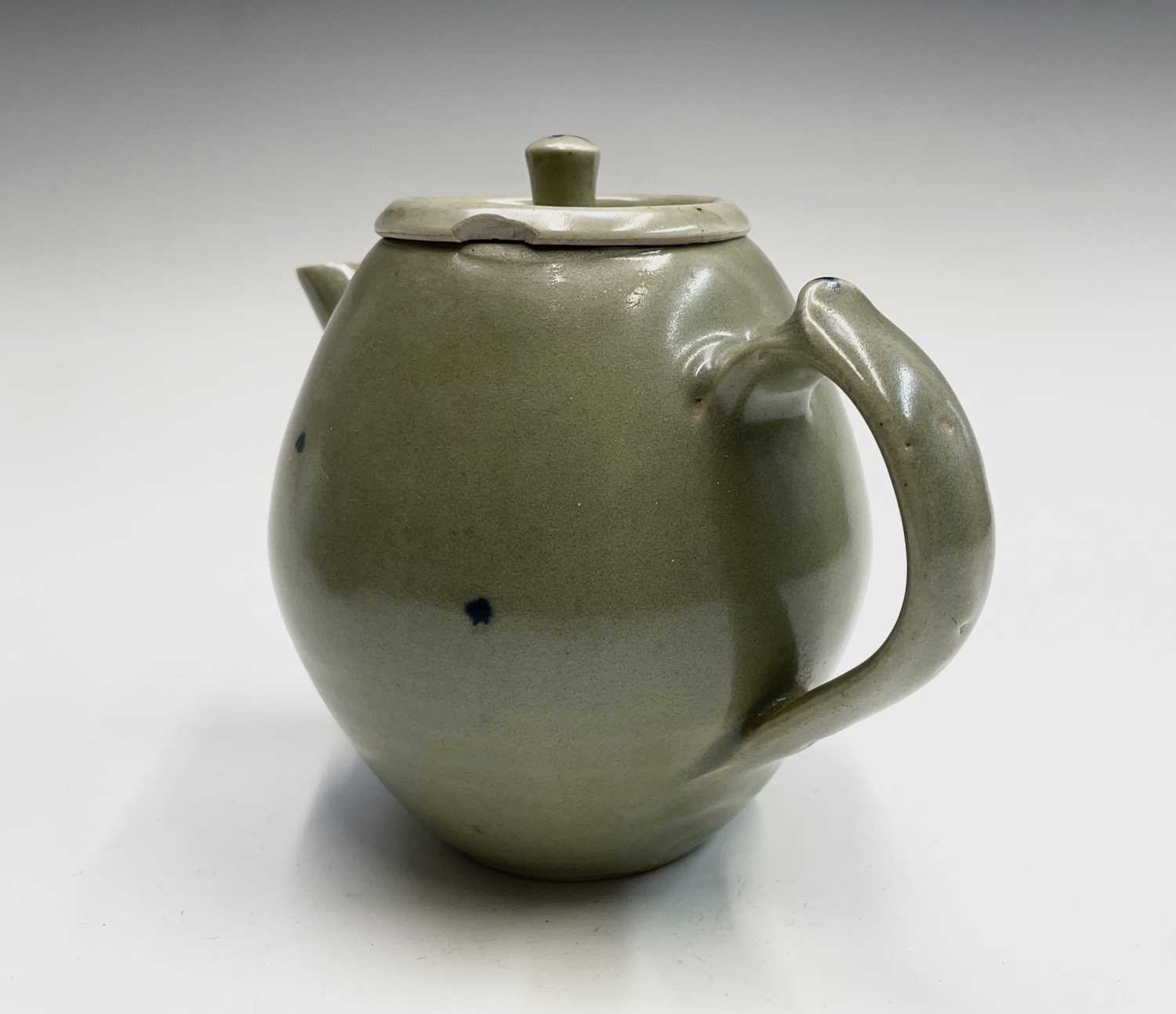 A Leach Pottery, St Ives, celadon glazed teapot, height 14cm, with impressed Leach seal and initials - Image 7 of 11