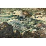 David COBB (1921-2014) Coastal Waves Oil on board Signed Indistinct label to verso 50 x