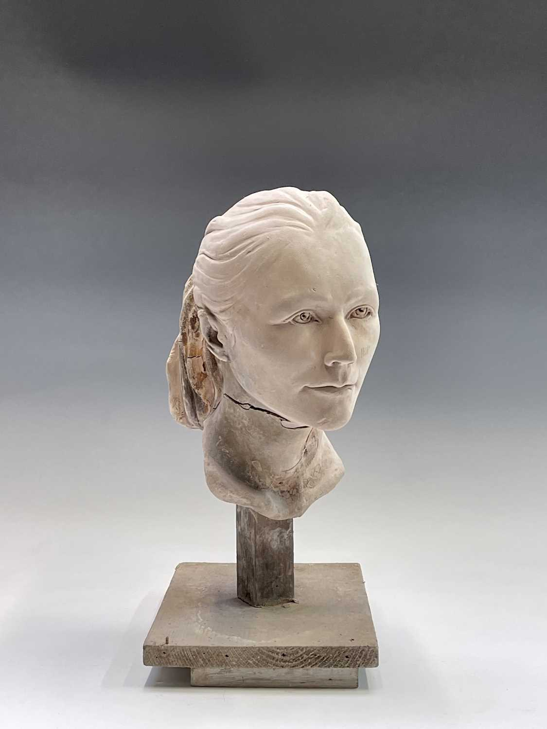 Alec WILES (1924)Female Head Plaster sculpture Height 42cm - Image 8 of 8