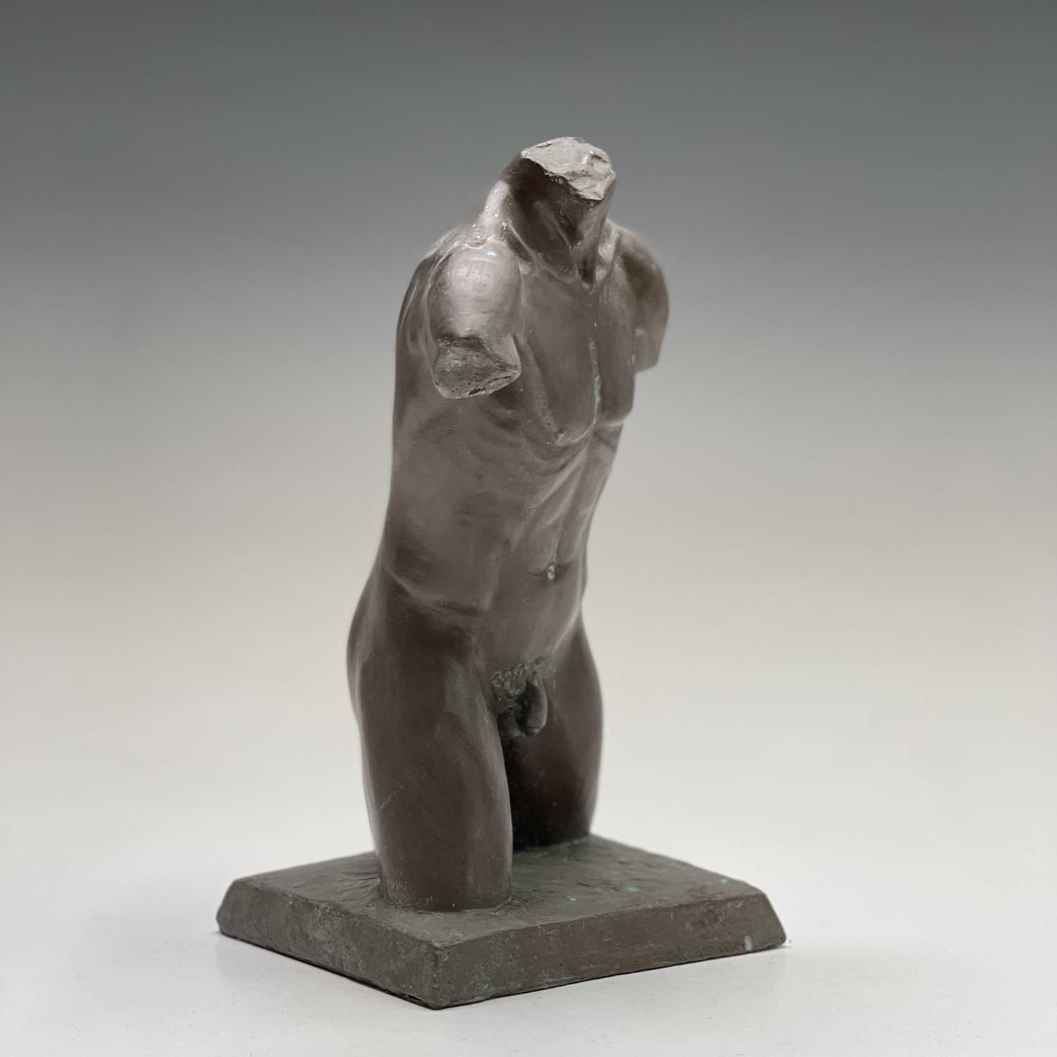 Alec WILES (1924)Males Torso Bronzed resin sculpture Signed and dated 1995Height 27cm - Image 2 of 10