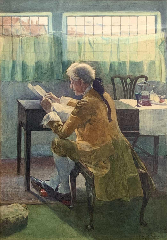 Frederick James McNamara EVANS (1859-c.1929) A Complex Document Watercolour Signed 50x35cm