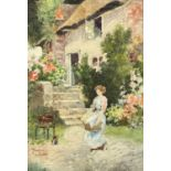 Mason RHEAD (XIX) The Washer-Girl Signed 23.5x16cm