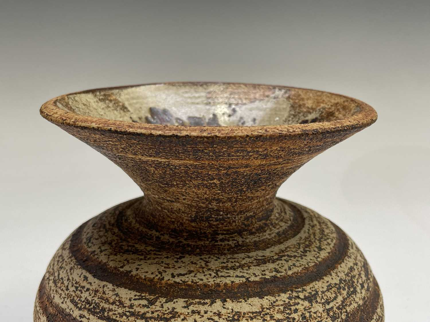 Waistel COOPER (1923-2003) Squat Form Vase with banded decoration and textured glaze Signed to - Image 8 of 9