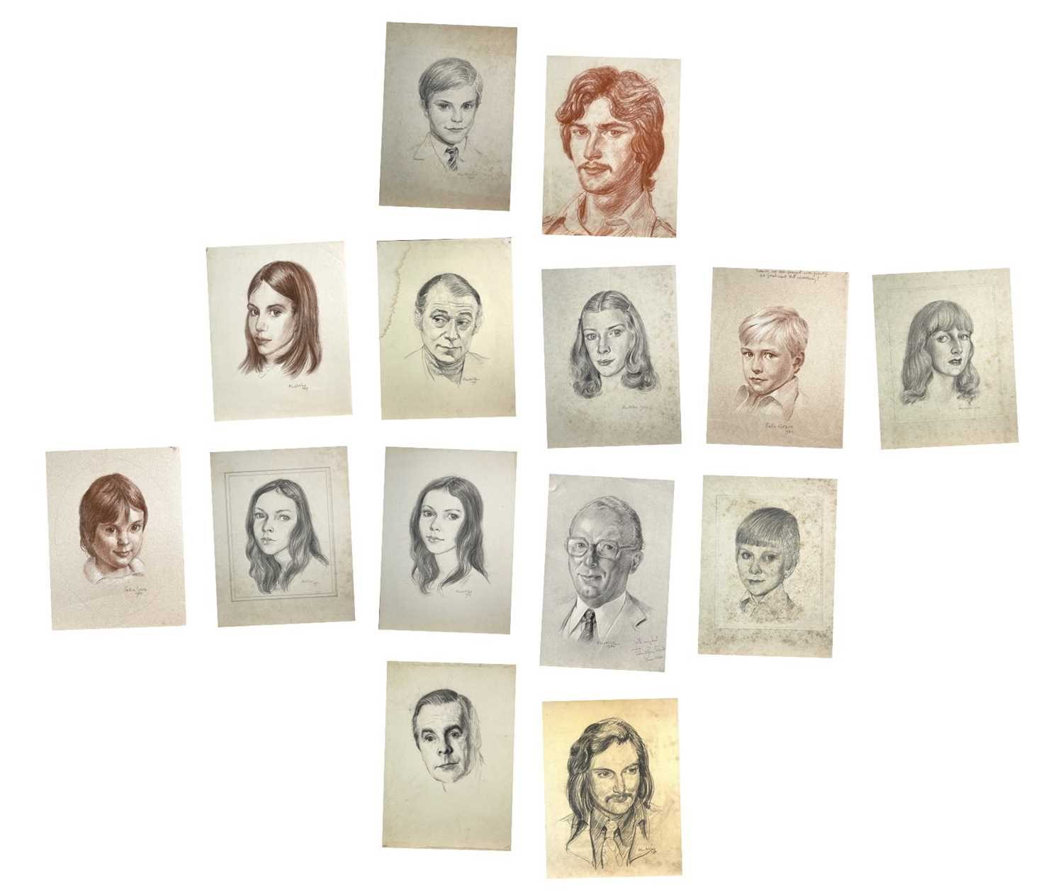 Alec WILES (1924) Nude drawings A collection of thirteen Mostly signed Mostly 60x42 Together with - Image 2 of 46