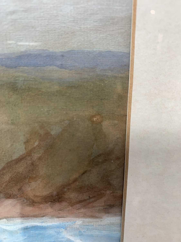 Lilian BLAND (1878-1971) (Aviator)Sennen SeascapeWatercolour/gouache28x43cmNews article to verso - Image 6 of 7