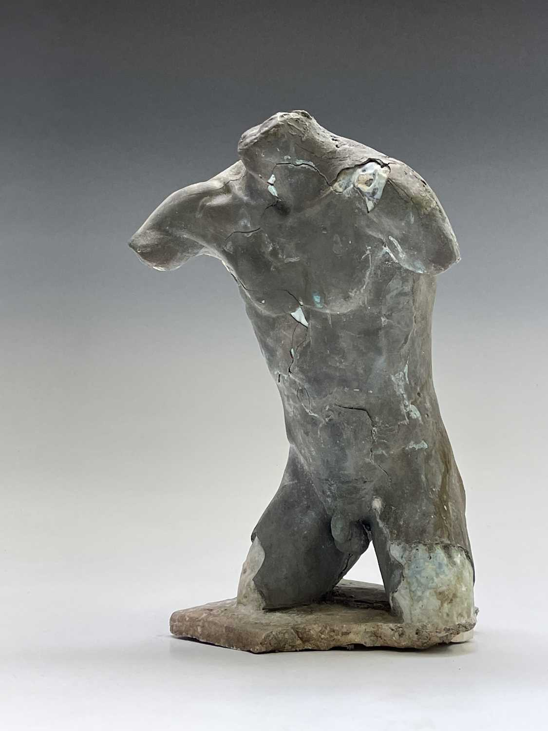 Alec WILES (1924)Males Torso Plaster and resin sculpture Signed Height 31cm - Image 11 of 13