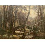 Garstin COX (1892-1933) Woodland BridgeOil on canvas SignedIndistinct inscription to verso 70 x