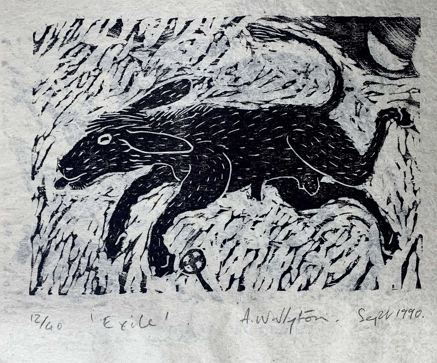 Andrew WADDINGTON God and Goddess A limited edition of four woodcuts 1990 Together in the Hendra - Image 3 of 9