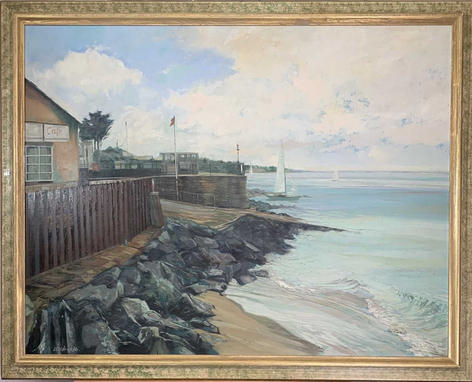Les COLDRICK The Slipway Oil on board Signed and dated '86 70x91cm Together with Les COLDRICK - Image 3 of 5