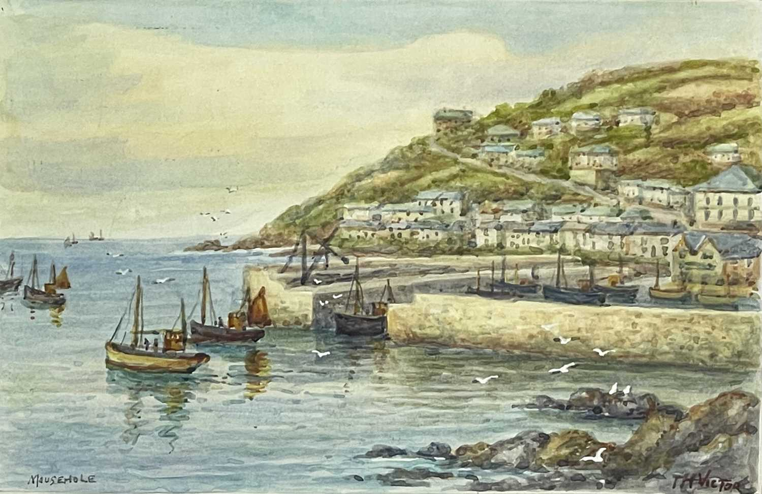 Thomas Herbert VICTOR (1894-1980)Mousehole Two watercoloursEach signed and inscribed 27.5 x 17cm and - Image 4 of 6