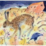 Andrew WADDINGTON (1960)Hare Watercolour Signed and dated 199138 x 38cm