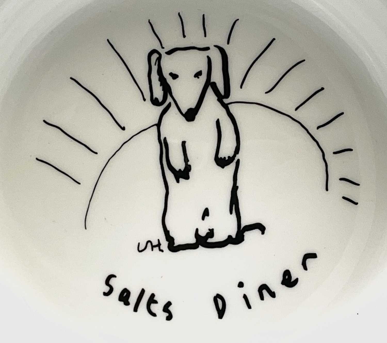 David HOCKNEY (1937) A Royal Doulton bone china bowl showing a design of a dog by David Hockney - Image 5 of 5