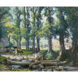 Samuel John Lamorna BIRCH (1869-1955)A Small Sequestered Spot at Clapper Mill, Lamorna Oil on