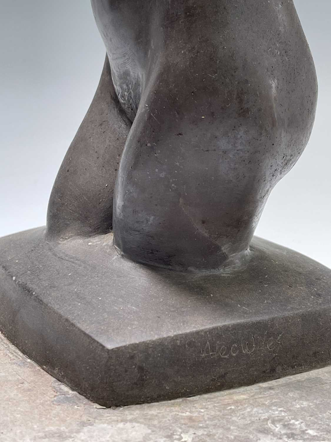 Alec WILES (1924)Female Torso Bronze resin sculpture Signed Height 30cm - Image 6 of 9