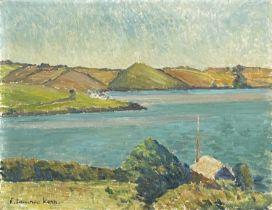 Elizabeth Lamorna KERR (1905-1990)Coastal Landscape Oil on board Signed 28 x 36cm