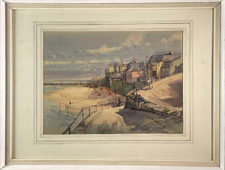 Michael CRAWLEY (XX-XXI) Newlyn Watercolour Signed 31x41.5cm - Image 2 of 3