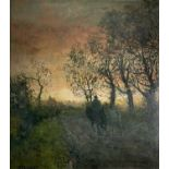 John Falconar SLATER (1857-1937) The End of The Day Oil on board Signed 51x48cm