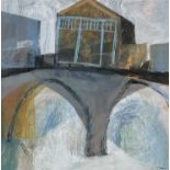 Simon POOLEY (1955)Coombe Bridge IIIMixed media on board Signed Artist's label to verso dated 200925
