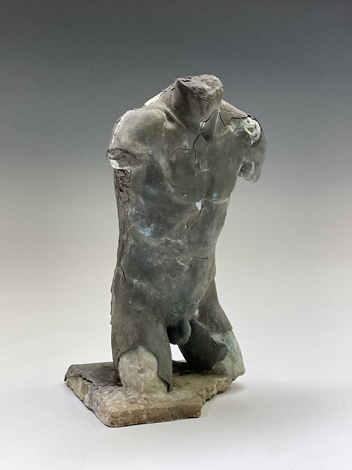 Alec WILES (1924)Males Torso Plaster and resin sculpture Signed Height 31cm - Image 9 of 13
