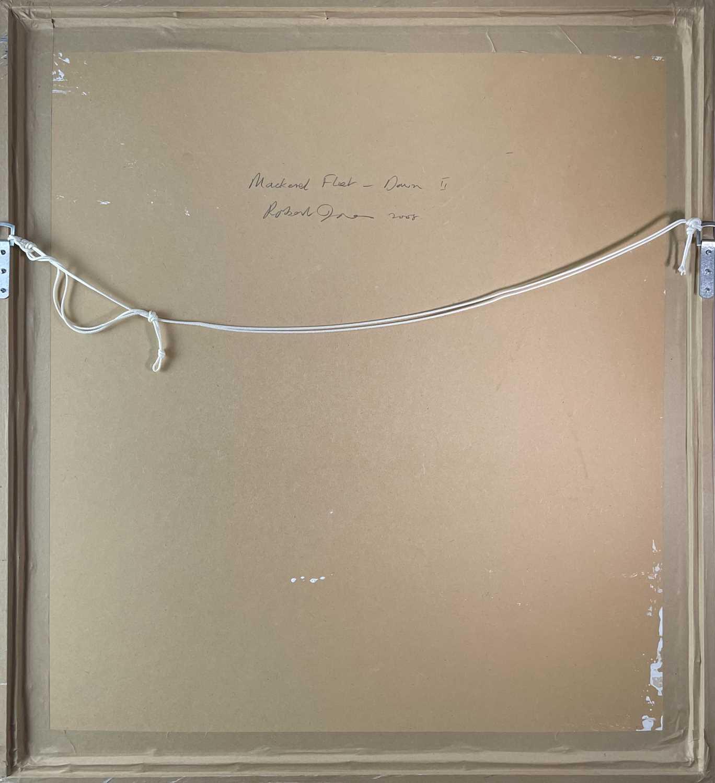 Robert JONES (1943)Mackerel Fleet - Dawn IIOil on board Initialled Signed, inscribed and dated - Image 3 of 3