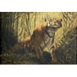 Charles FORBES-MATHESON The Tigers Lair Oil on panel Signed 19x28cm