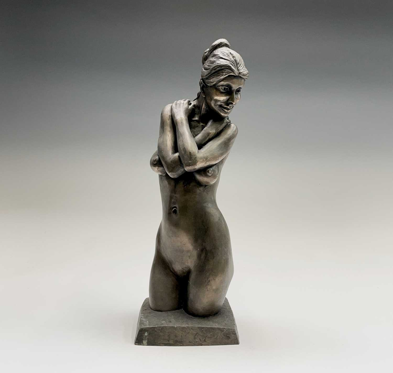 Alec WILES (1924)Female Form Bronzed resin sculpture Signed Height 36.5cm