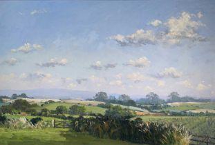 John MILLER (1931-2002)Cornish LandscapeOil on canvas Signed 50 x 75cm