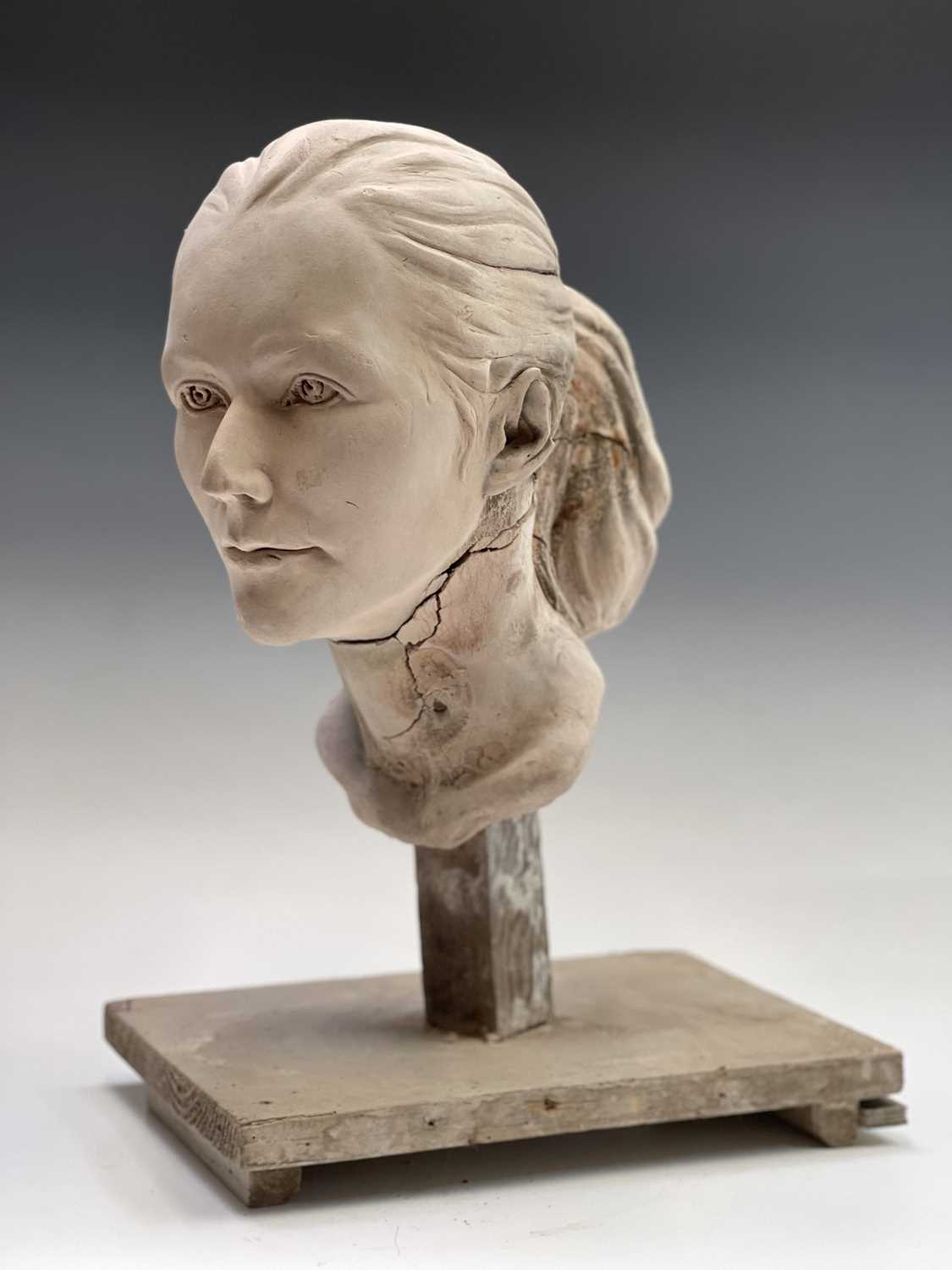 Alec WILES (1924)Female Head Plaster sculpture Height 42cm - Image 5 of 8
