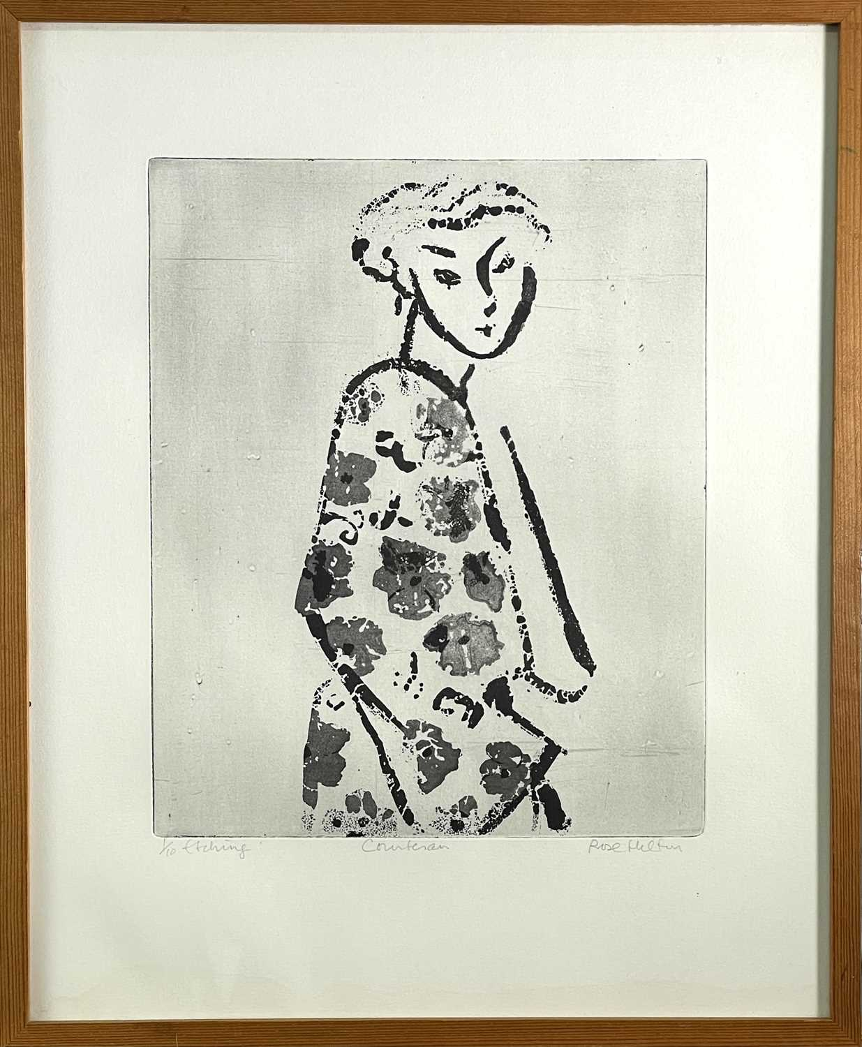 Rose HILTON (1931-2019)CourtesanEtching Signed, inscribed and numbered 1/10Further signed, inscribed - Image 2 of 3
