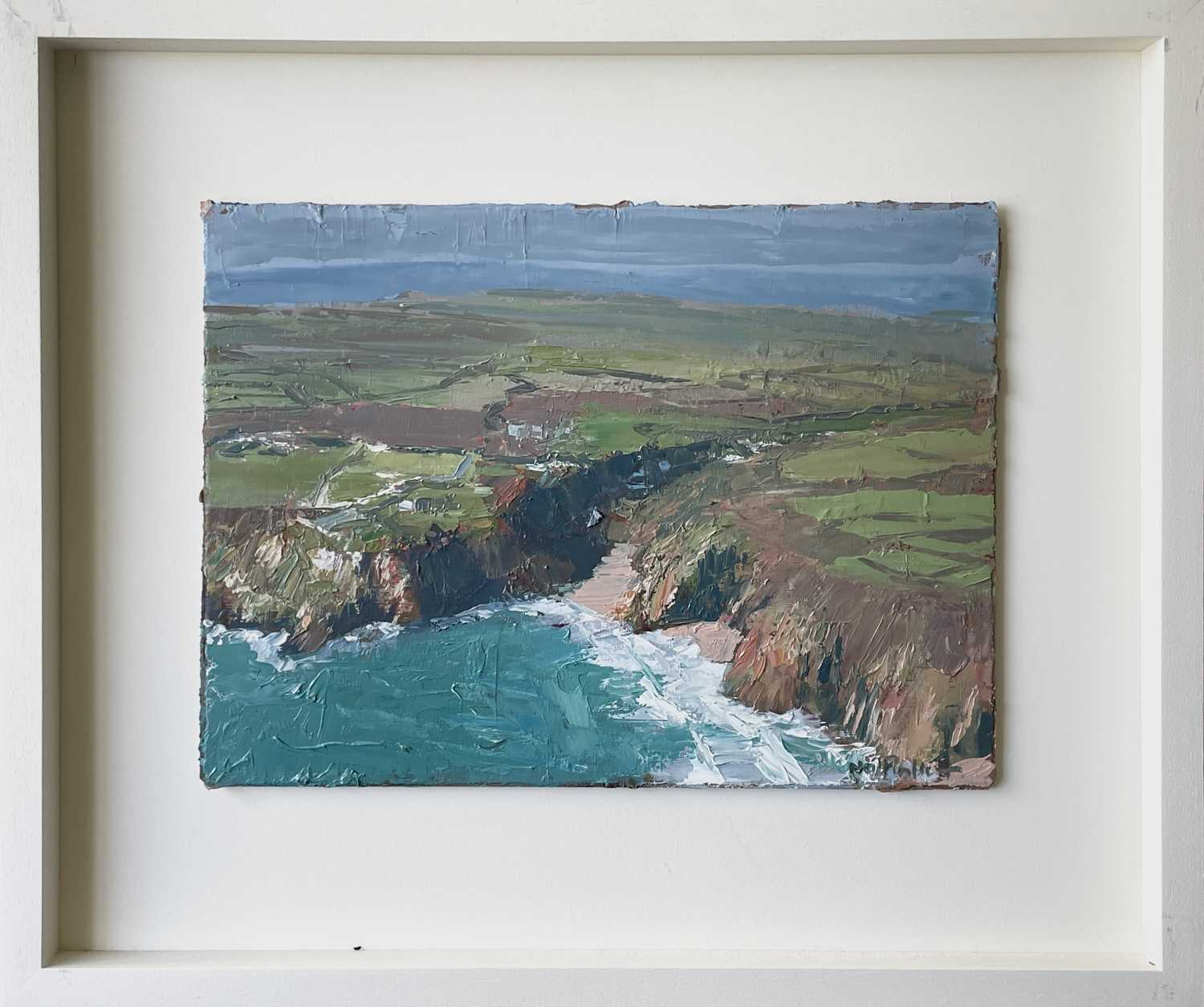 Neil PINKETT (1958)The Minack Theatre and Porthcurno Oil on board Signed Gallery label to verso 29 x - Image 3 of 3