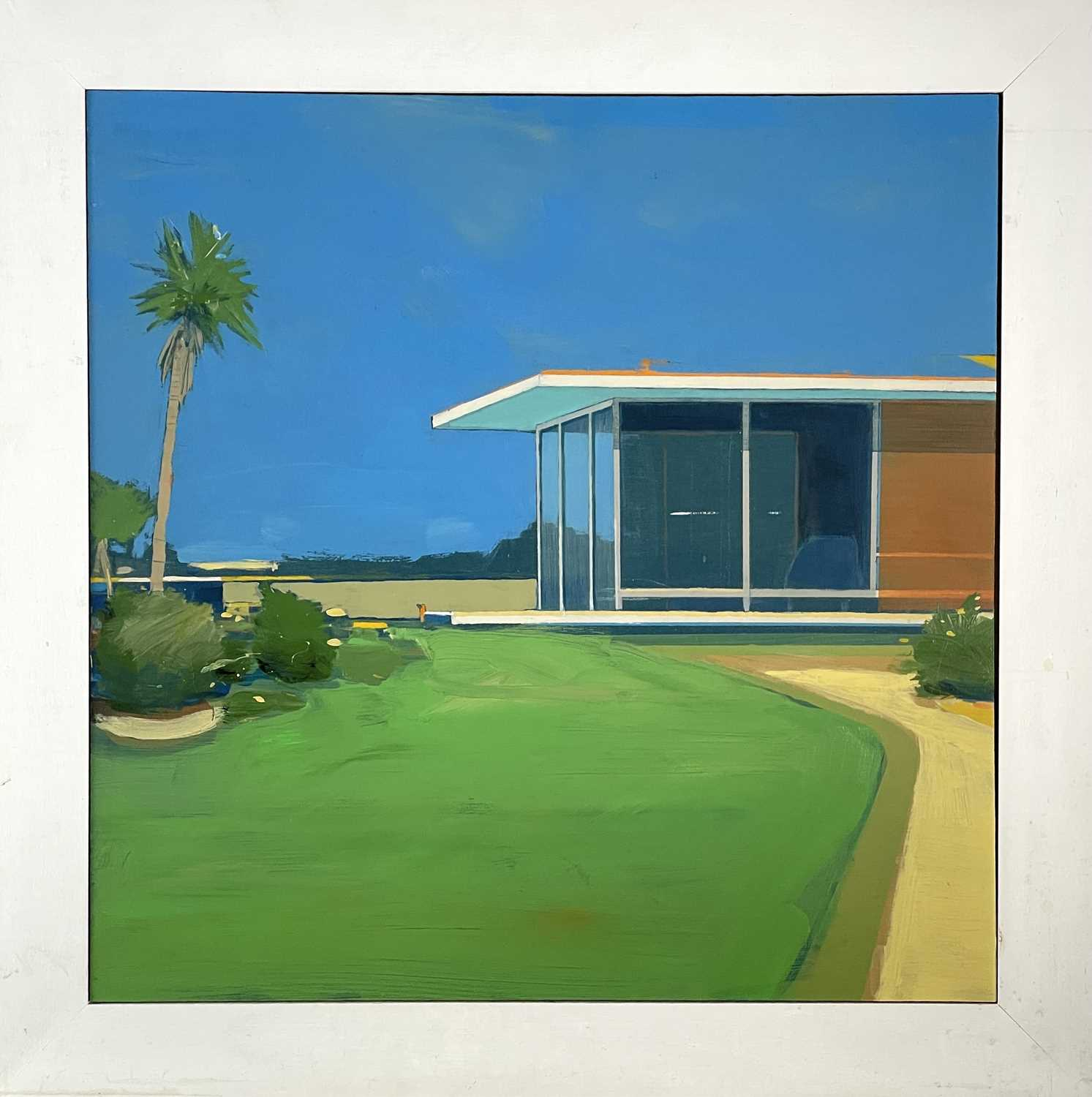 Alasdair LINDSAY (XX-XXI)Holiday Home Acrylic on board Signed, inscribed and dated 2005 to verso43 x - Image 2 of 3