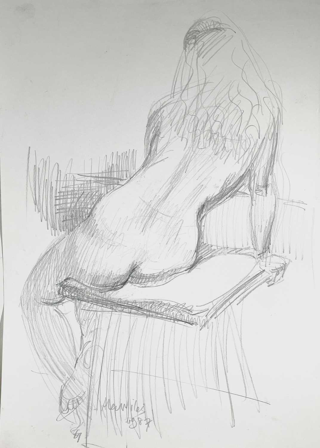 Alec WILES (1924) Nude drawings A collection of thirteen Mostly signed Mostly 60x42 Together with - Image 19 of 46