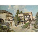Italian School Mill Oil on canvas Indistinctly signed 37x52cm