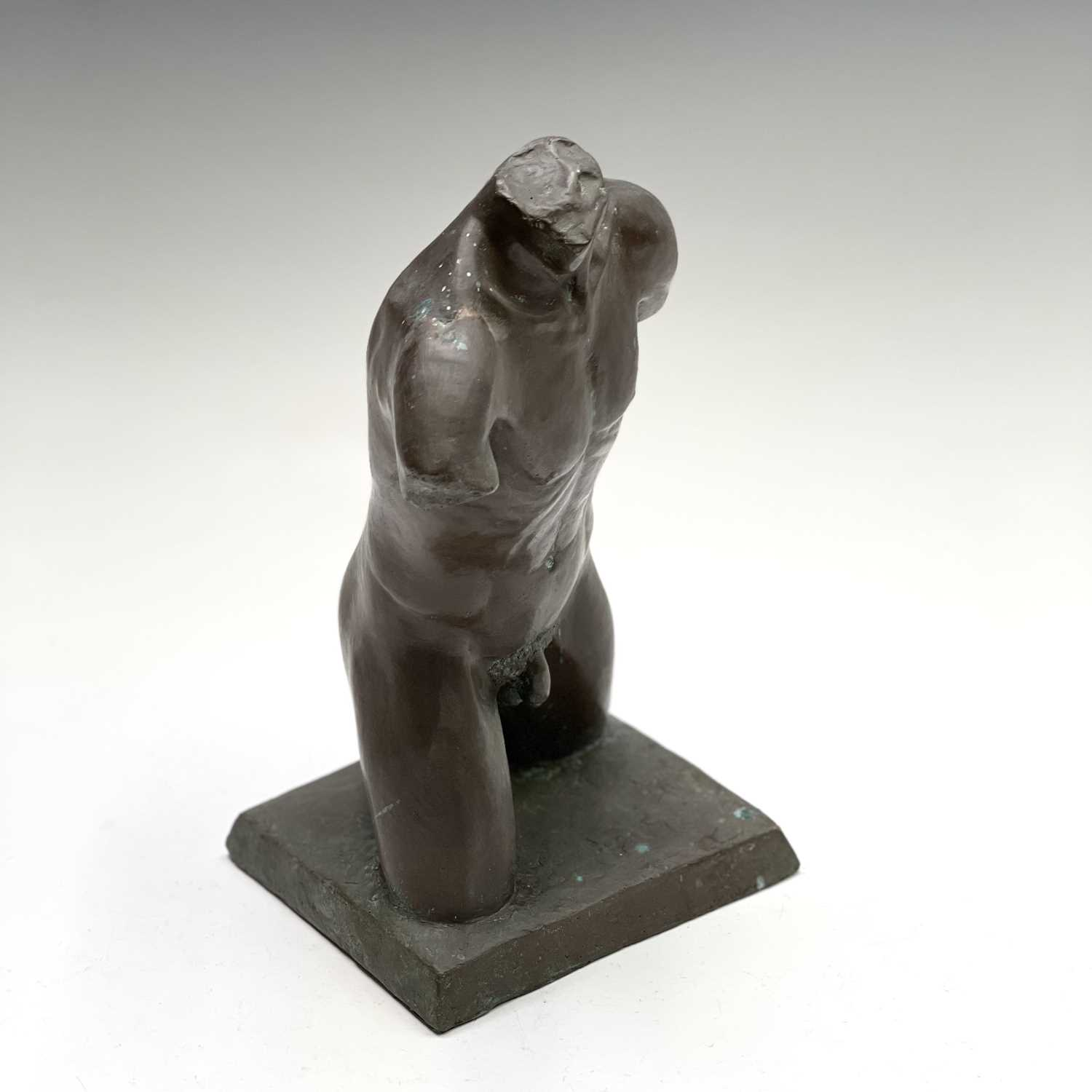 Alec WILES (1924)Males Torso Bronzed resin sculpture Signed and dated 1995Height 27cm - Image 10 of 10