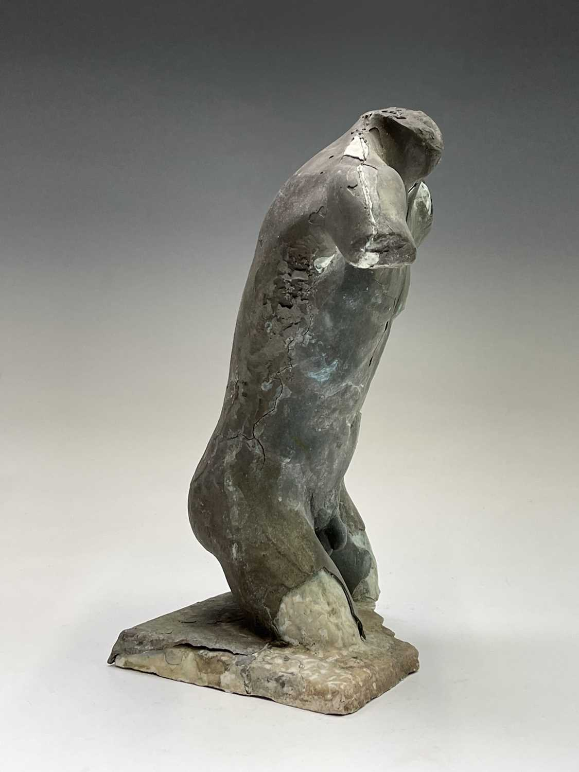 Alec WILES (1924)Males Torso Plaster and resin sculpture Signed Height 31cm - Image 5 of 13