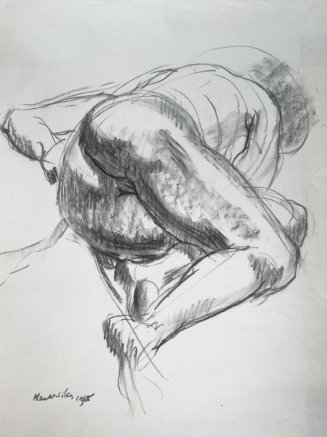 Alec WILES (1924) Nude drawings A collection of thirteen Mostly signed Mostly 60x42 Together with - Image 4 of 46