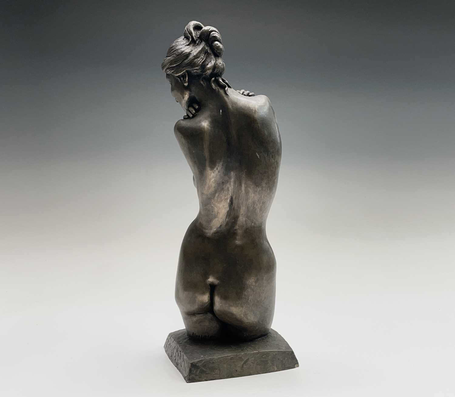 Alec WILES (1924)Female Form Bronzed resin sculpture Signed Height 36.5cm - Image 7 of 11