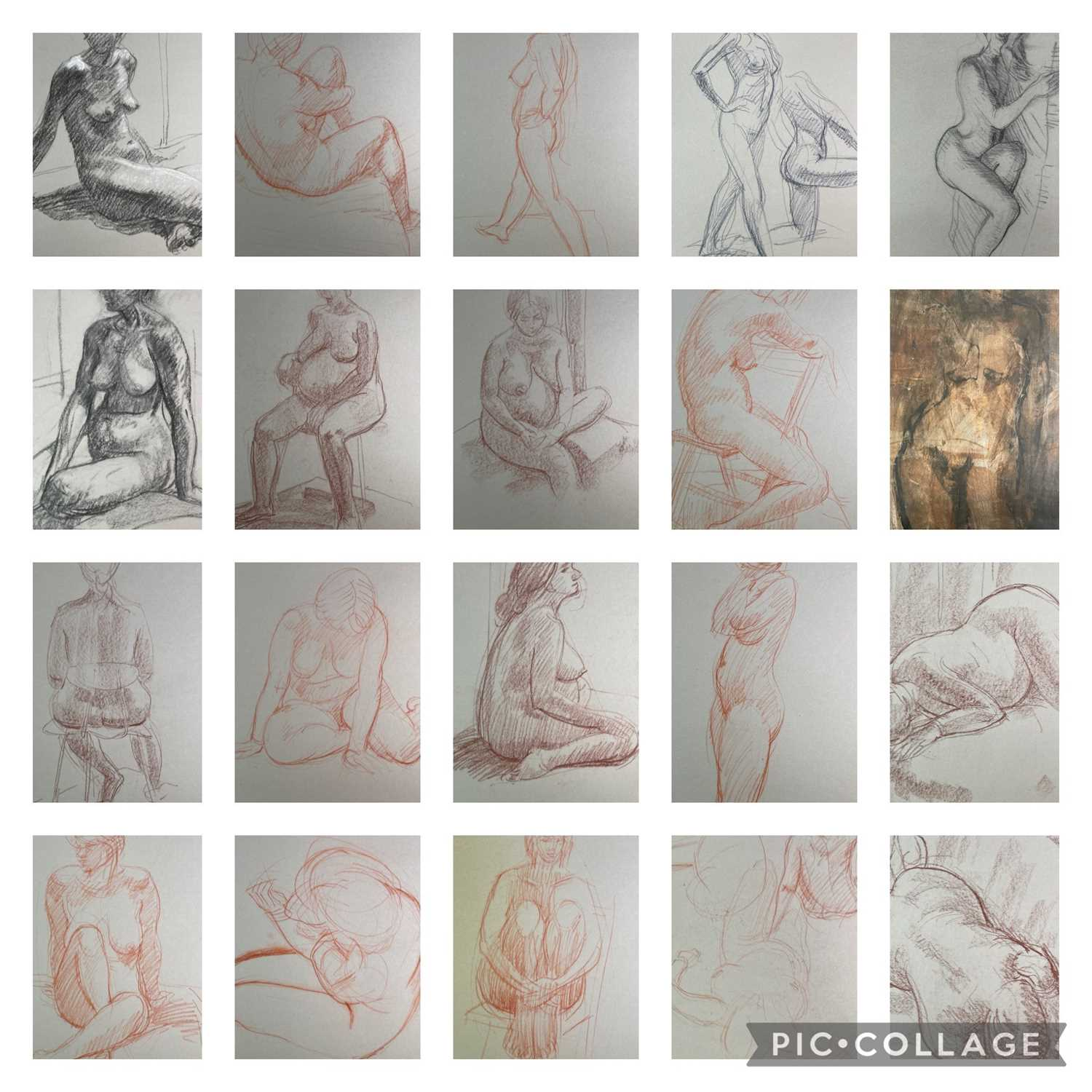 Alec WILES (1924) Nude drawings A collection of twenty Mostly signed Mostly 63x42