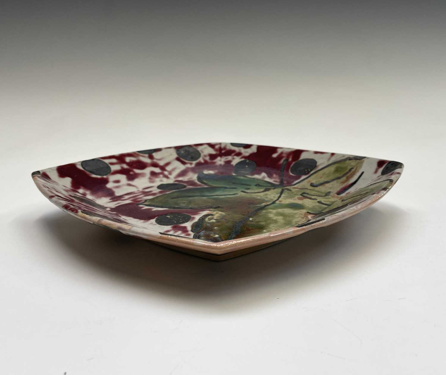 Janice TCHALENKO (1942-2018) Square dish Monogrammed 25.5cmCondition report: We can see no condition - Image 3 of 3