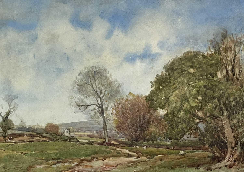 Samuel John LAMORNA-BIRCH (1869-1955)A May Morn Nr LamornaWatercolourSigned 25 x 35.5cmCondition