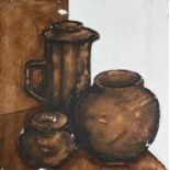 Terry WHYBROW (1932-2020)Three Pots, ReliefMixed media Signed30x30cm Terry Whybrow 1932 - 2020 Terry