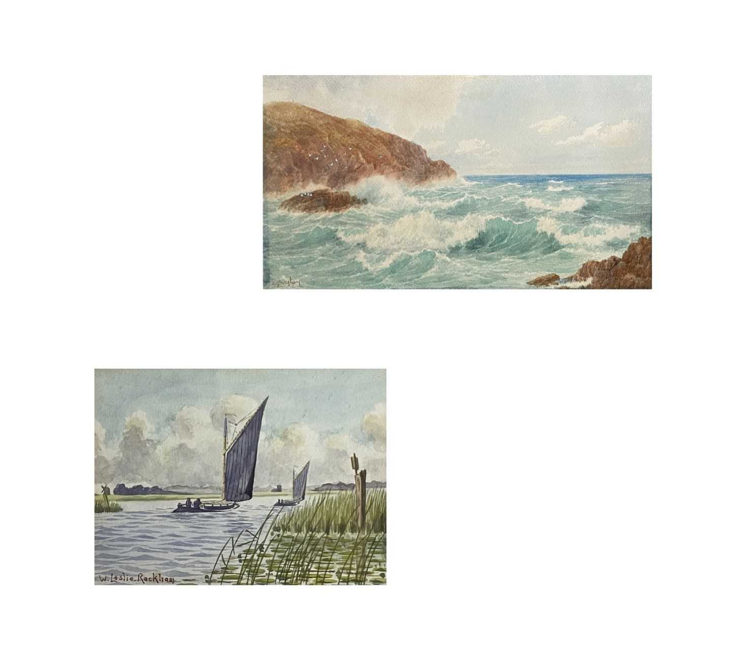 William Leslie RACKHAM (1864-1944)Sailing on the BroadsWatercolour Signed 15 x 20cmTogether with
