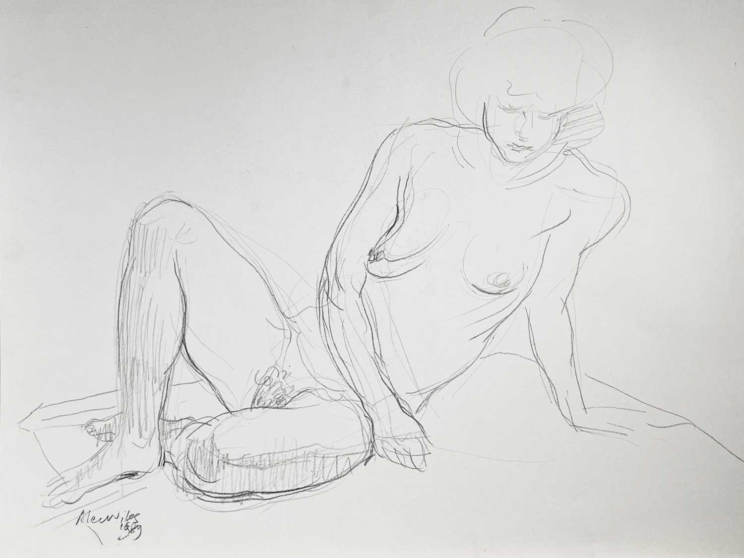 Alec WILES (1924) Nude drawings A collection of thirteen Mostly signed Mostly 60x42 Together with - Image 6 of 46