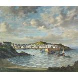 Bernard NINNES (1899-1971)St Ives Oil on canvasSigned Label to verso51 x 61cm Part of a private
