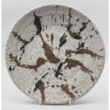 Peter SMITH (1941)A plate made of experimental porcelain with low fire body splatter circa
